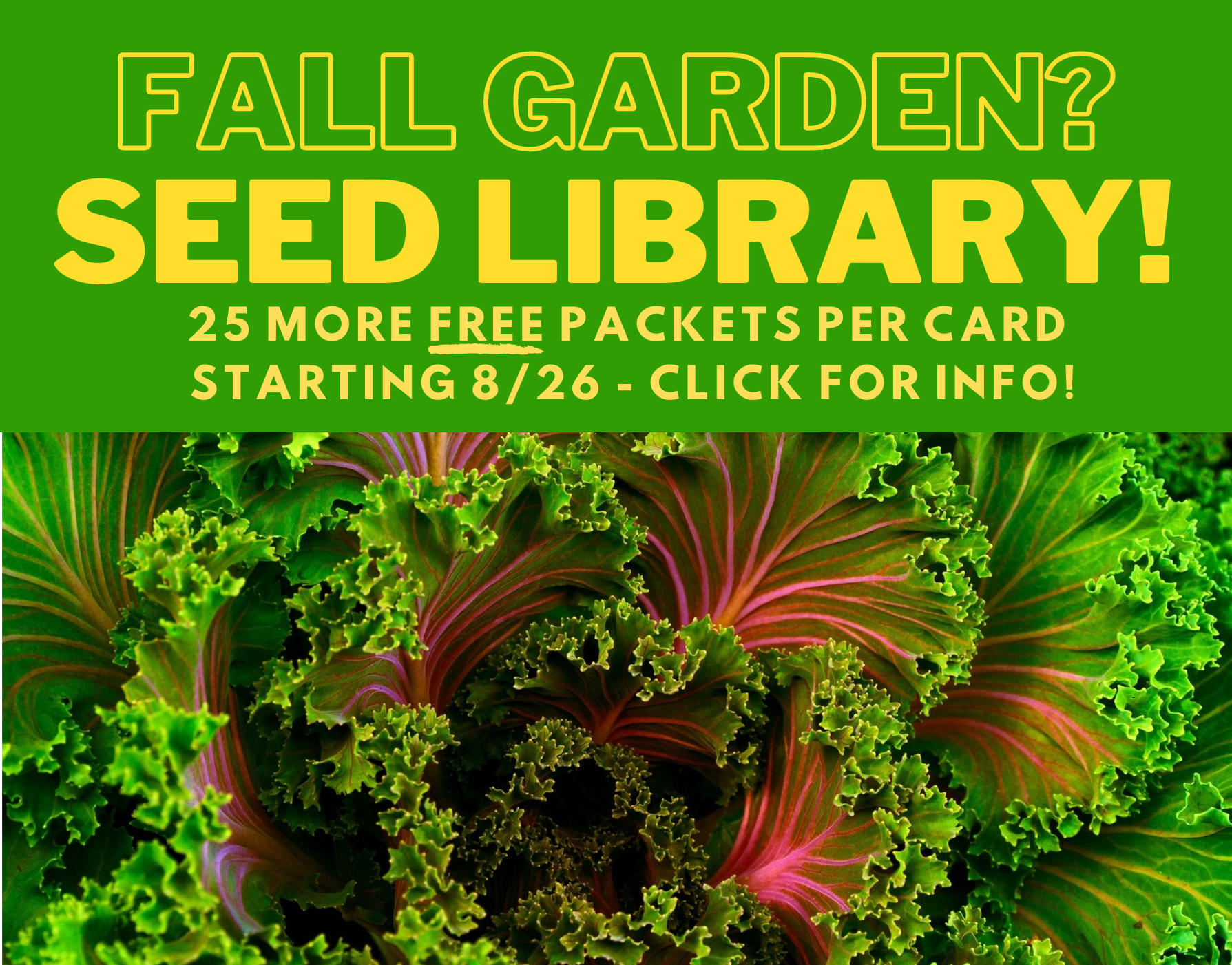 Fall Garden Seed Library
